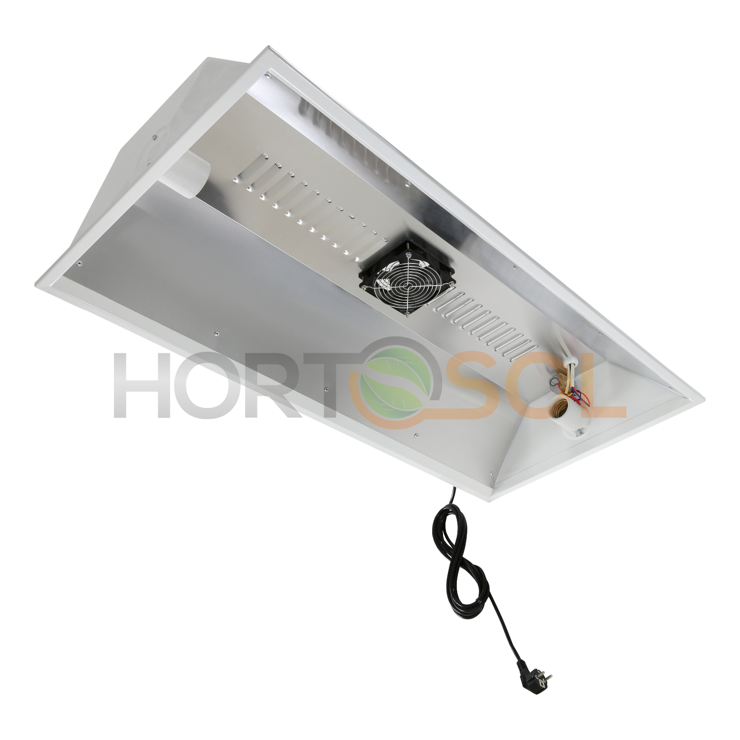 Two Lamp Reflector For 2 Cfl With Fan Hortosol